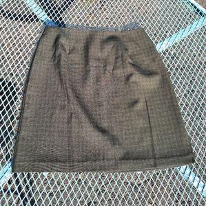 Vintage 90s Dark Green Plaid Mini Skirt